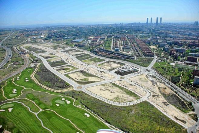 Imagen aérea de 2013 del PAU de Arroyo del Fresno, donde ya se están levantado varias promociones de pisos. EM EUROPA PRESSMadrid